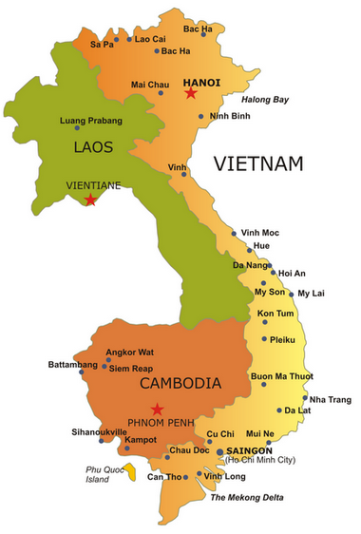 Indochina Travel Map