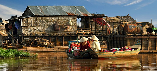 Tonlé Sap Lake in Cambodia