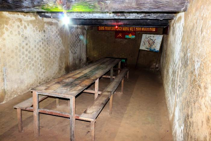 Meeting rom in Cu Chi Tunnels - Top destinations to Visit in Vietnam 2017